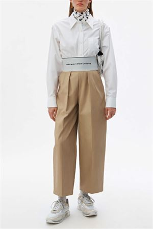 High-waisted trousers with logo ALEXANDER WANG | 9 | 1WC2194156261