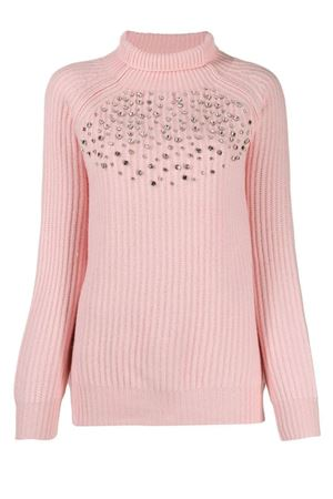 Ribbed sweater with crystals BeBlumarine | 1 | 8312185