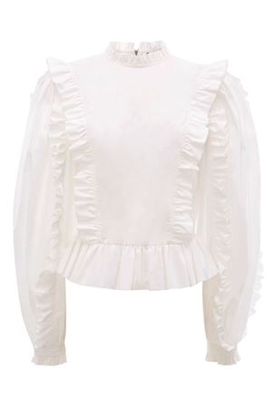 Blusa con rouches JW ANDERSON | 5032237 | TP12919EPG0030001