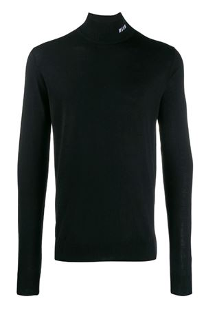 High neck sweater with micro logo MSGM | 7 | 2740MM13219558299