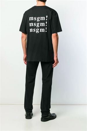 T-shirt with back logo MSGM | 8 | 2740MM7919579799