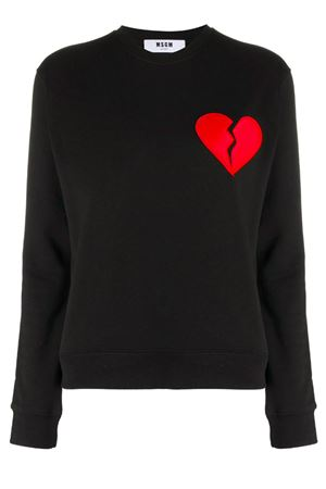 Crewneck sweatshirt with application MSGM | -108764232 | 2742MDM27419579999