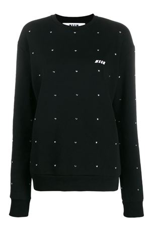 Sweatshirt with heart rhinestones MSGM | -108764232 | 2742MDM27719579999