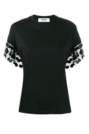 T-shirt with sleeves in Tulle Polka dots MSGM | 8 | 2743MDM6119579799