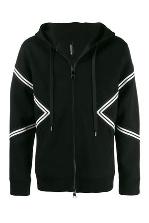 Varsity hooded sweatshirt NEIL BARRETT | -108764232 | PBJS500M516C11118