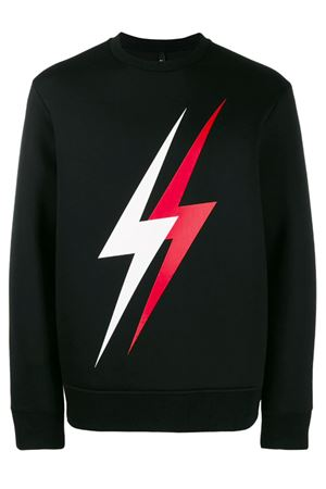 Printed double lightning sweatshirt NEIL BARRETT | -108764232 | PBJS504SM540S1133