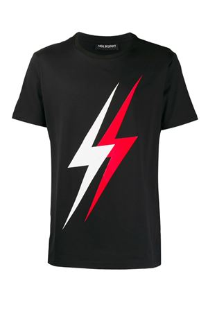 Double Thunderbolt T-shirt NEIL BARRETT | 8 | PBJT546SM503S1133