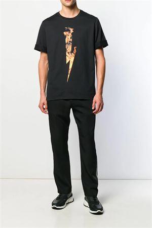T-shirt Flame Thunderbolt NEIL BARRETT | 8 | PBJT556SM507S094