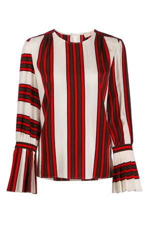 Striped blouse with folds TORY BURCH | 5032237 | 60026961