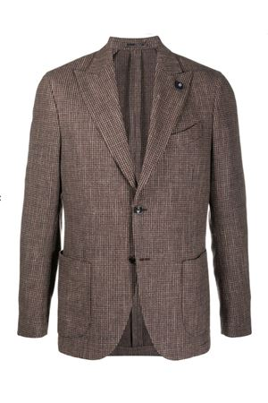 Single-breasted checked jacket LARDINI | 3 | IM528AEIMC55507200VE