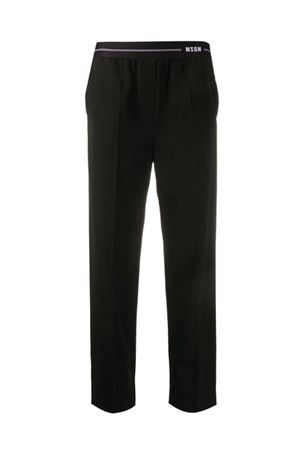 Trousers with logo at the waist MSGM | 9 | 2842MDP10420730999