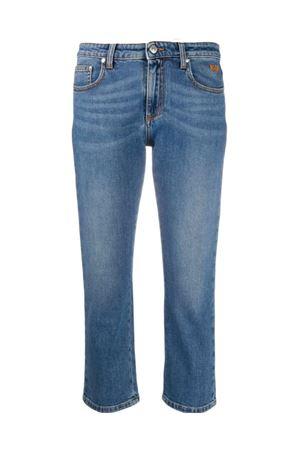 Jeans con logo in cristalli MSGM | 24 | 2943MDP48L20764085