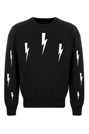 Lightning bolt sweatshirt NEIL BARRETT | -108764232 | PBJS672SP527S524