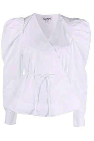 Camicia con nodo GANNI | 6 | F6035151