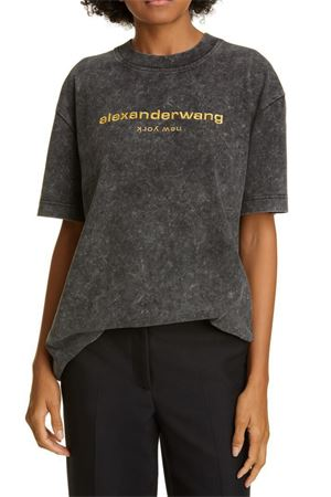 T-shirt Acid Wash logo ALEXANDER WANG | 8 | 1CC1201030007