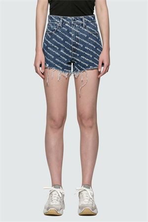 Denim shorts with logo ALEXANDER WANG | 30 | 4DC1204644922
