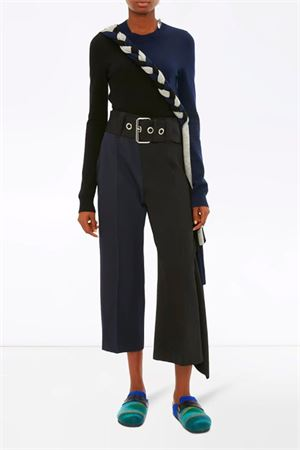 Two-tone trousers with ruffles JW ANDERSON | 9 | TR0001PG0011999