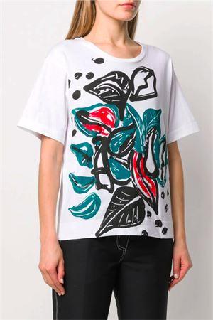 T-shirt con stampa fiori MARNI | 8 | THJEL32EP1SCQ41JLV70
