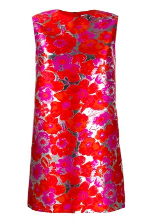 Short damask dress MSGM | 11 | 2841MDA18820712418