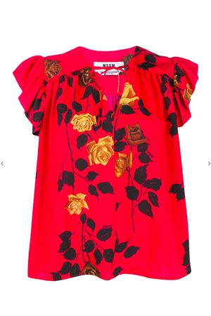 Blouse with rose print MSGM | 5032237 | 2841MDM3020716218