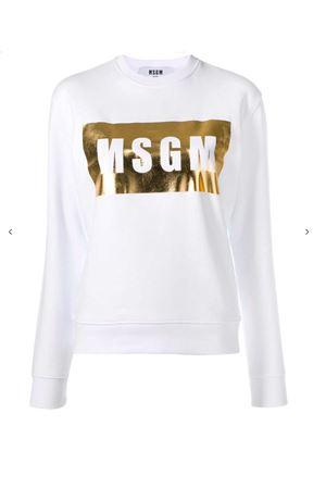MSGM Metallic Logo Box Sweatshirt