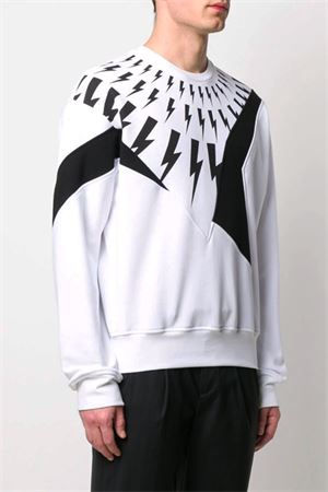 Lightning Bolt sweatshirt NEIL BARRETT | -108764232 | PBJS593SN539P1849