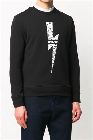 Sweatshirt with lightning NEIL BARRETT | -108764232 | PBJS598SN510S524