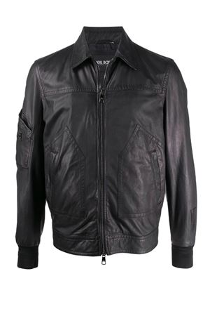 Leather jacket with zip NEIL BARRETT | 5032239 | PBPE629TN701T01