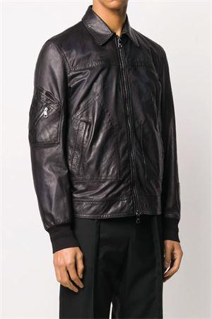 Leather jacket with zip NEIL BARRETT | 5032239 | PBPE629TN701T01