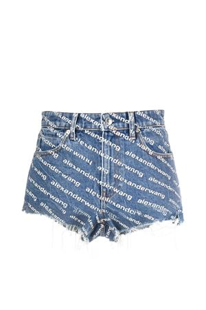 Shorts denim con logo ALEXANDER WANG | 30 | 4DC1214897460