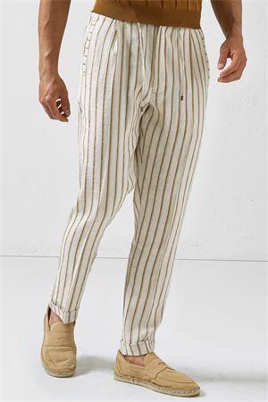 Pantaloni a righe LARDINI | 9 | ELMIAMI3ELC1390120