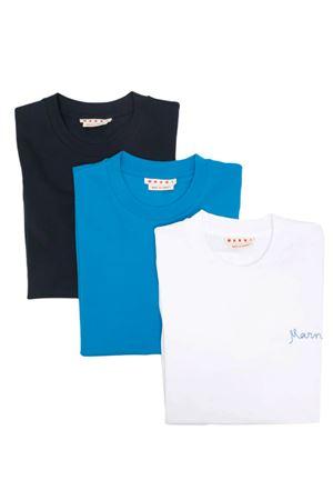 Set di 3 t-shirt con logo MARNI | 8 | THJE0211X5UTCZ6800W01