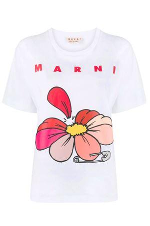 T-shirt a fiori MARNI | 8 | THJEL32EPTUSCR1400W01