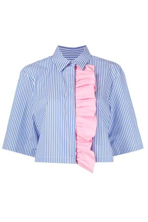 Camicia con rouches MSGM | 6 | 3041MDE11Y21710785