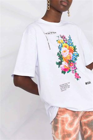 T-shirt a fiori MSGM   8   3041MDM16121729801