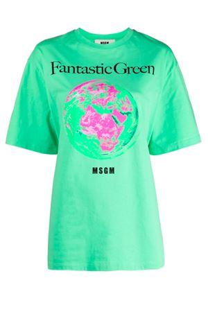 T-shirt Fantastic Green MSGM | 8 | 3041MDM19021711731
