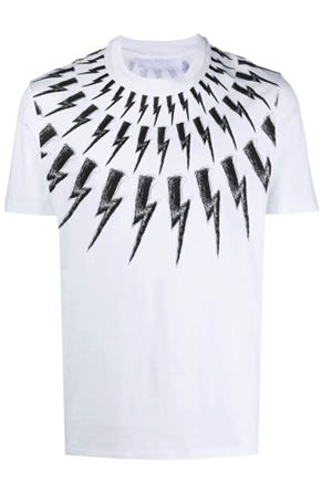 Thunderbolt T-shirt NEIL BARRETT | 8 | PBJT883SQ516S526