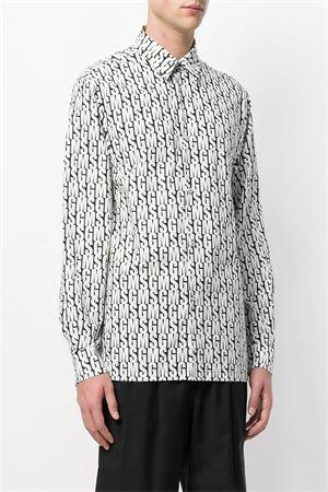 Camicia con stampa logo all-over con maniche lunghe MSGM | 6 | 2440ME09A 18405299