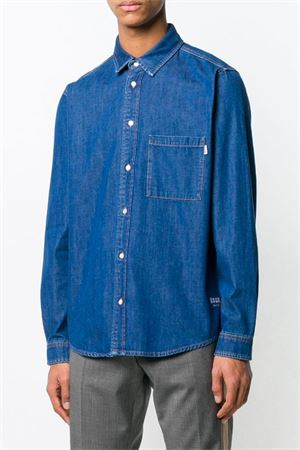Denim shirt with logo MSGM | 6 | 2640ME44L 19526888