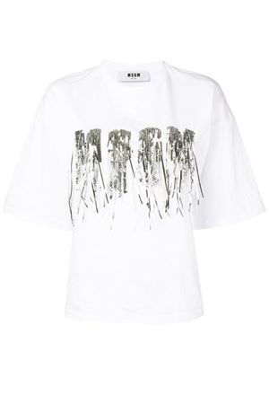 T-shirt with sequins MSGM | 8 | 2641MDM67X 19529801