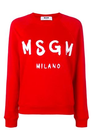 Sweatshirt with brushed logo MSGM | -108764232 | 2641MDM8919529918
