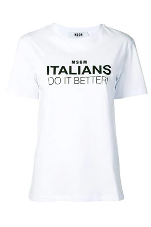 T-shirt con stampa MSGM | 8 | 2642MDM256 19529801