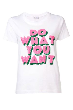 T-shirt with sequined phrase P.A.R.O.S.H. | 8 | D110593COWANT842