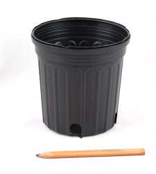 25 ea. 1 Gallon Trade Black Nursery Pots