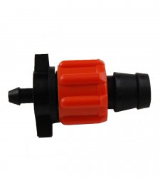 1/4 inch barb Tape Fitting for Drip Tape - Orange