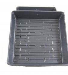 "Growing Tray - 10""x10"" Micro-greens/Seed Tray - Black (With Holes)"