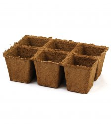 "CowPots 3"" 6 Pack Case of 50 - Biodegradable"