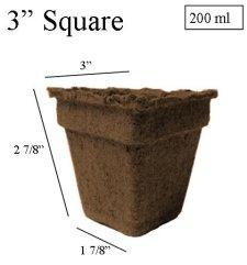 "CowPots 3"" Square Biodegradable - Each or Case"