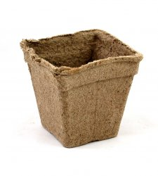 "CowPots 5"" Square Case 60 Pots - Biodegradable"