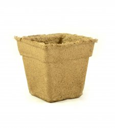 "CowPots 5"" Square Individual - Biodegradable"